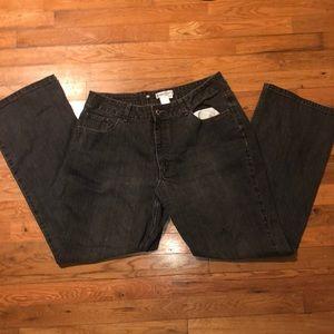 Grey women jeans wide leg